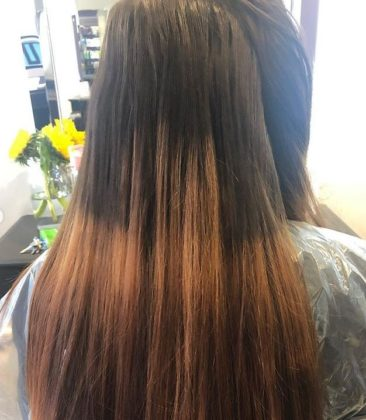 C HAIR COLOUR CORRECTION BEFORE DAVID YOULL HAIRDRESSERS PAIGNTON DEVON