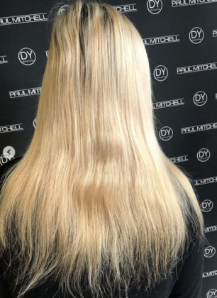 A BALAYAGE COLOUR CORRECTION BEFORE BEST HAIR SALON IN PAIGNTON DEVOM